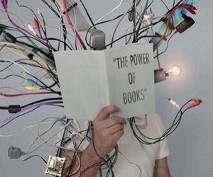 book, art, and electricity image