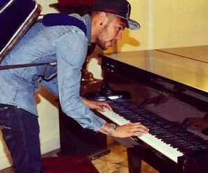 piano, neymar, and neymar jr image