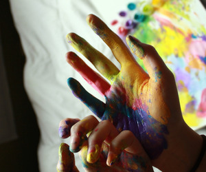 colors, hands, and love image