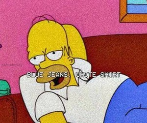 lana del rey, blue jeans, and homer image