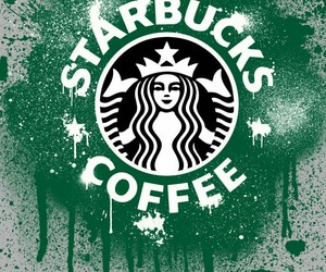 starbucks, coffee, and graffiti image