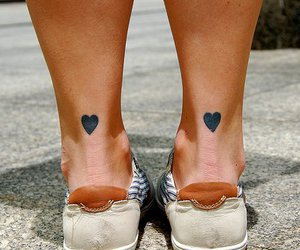 tattoo, heart, and hearts image