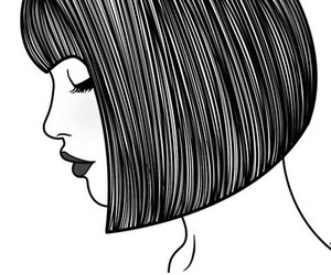 girl, outlines, and grunge image