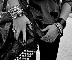 bad, black and white, and fashion image