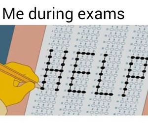 exam, help, and funny image