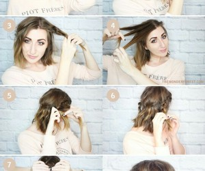 short hair and tutorial image
