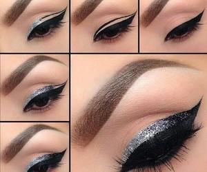 dark, eye, and glitter image