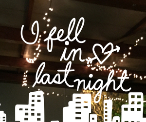 city, night, and quote image