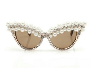 glasses, sunglasses, and pearls image
