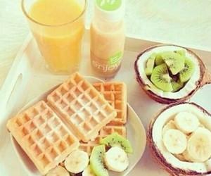 kiwi, milkshake, and waffle image