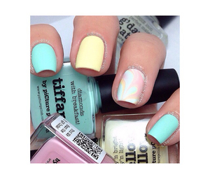 kawaii, teal, and nail art image