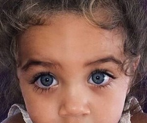 eyes, girl, and baby image