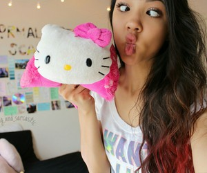 hello kitty, profile picture, and overlay image