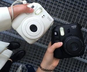 black, white, and polaroid image