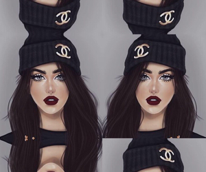 chanel, contour, and drawing image