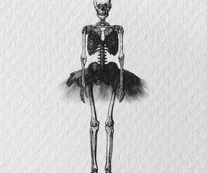 skeleton, ballet, and skull image