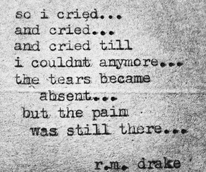 cry, sad, and r.m. drake image