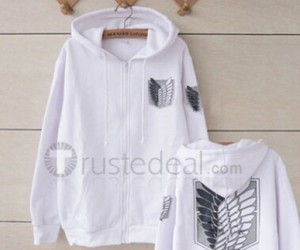 shingeki no kyojin, attack on titan, and eren white hoodie image