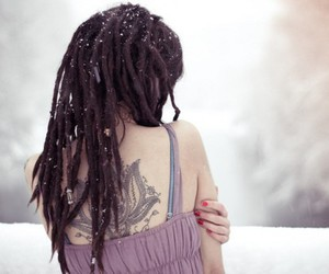 tattoo, dreads, and hair image