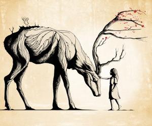 animal, art, and elk image