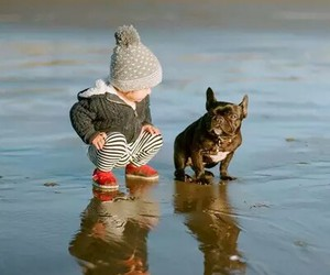 baby and dog image