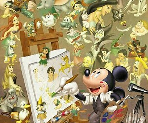 disney, mickey, and mickey mouse image