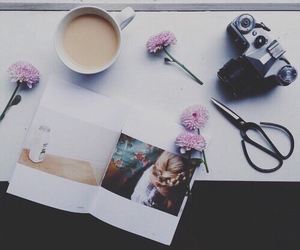 flowers, coffee, and tumblr image