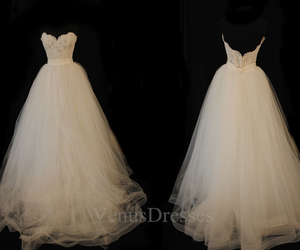 dress, bridal dresses, and lace wedding dresses image