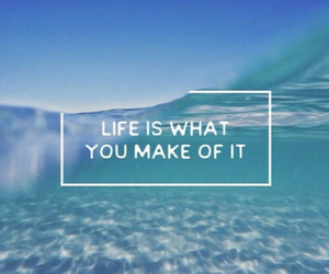 life, quote, and blue image