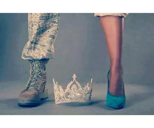 military, boots, and girl image