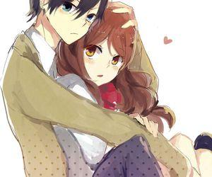 anime, horimiya, and couple image