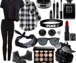 black, makeup, and Polyvore image