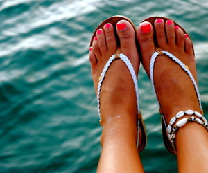 summer, girl, and nails image