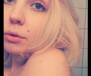 big eyes, makeup, and big lips image