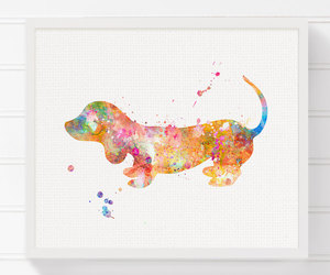 art, dachshund, and dog image