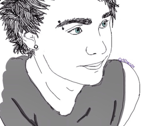 michael clifford, outlines, and 5sos image