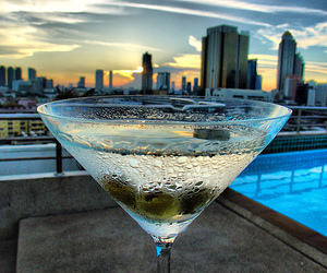 drink, city, and martini image
