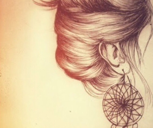 drawing, hair, and draw image