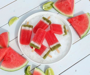summer, food, and watermelon image
