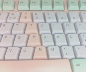 pastel, keyboard, and pale image