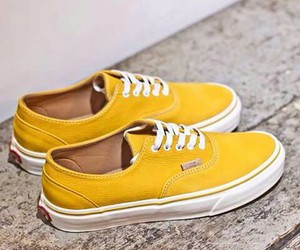 boy, vans, and yellow image