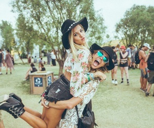 friends, coachella, and festival image