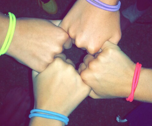 hands, team, and neon image