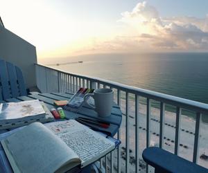 study, sea, and school image