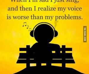 earphones, music, and problems image