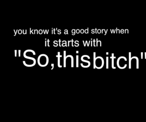 bitch, story, and text image