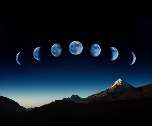 background, light blue, and moon image