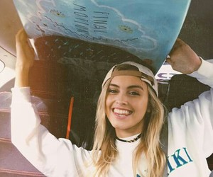 blonde and surf image
