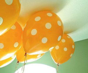 balloons, yellow, and cute image