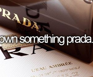 Prada, fashion, and bucket list image